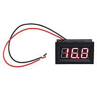 Вольтметр цифровой DC 0-99,9В, красный, 0,56', корпус, три вывода, пит. 5-30В