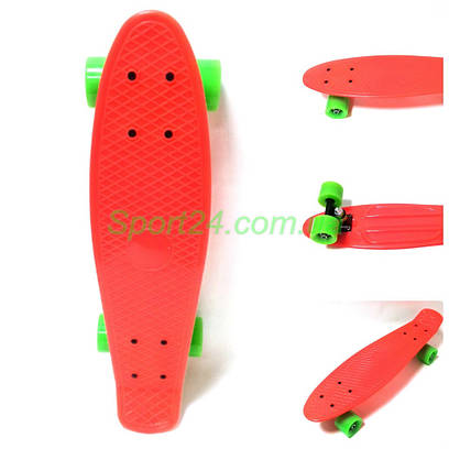 Оранжевый пенни борд 22 (penny board 22, PVC амортизаторы)