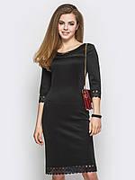 Платье приталенного силуэта с кружевом 90232