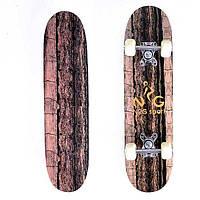 Скейт, скейтборд детский коричневый - распродажа, новая поставка