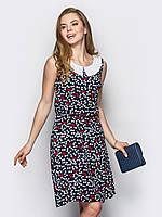 Легкое женское платье с воротником без рукавов на резинке 90235, фото 1