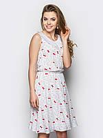 Легкое женское платье на резинке, с воротником, без рукавов 90235/1