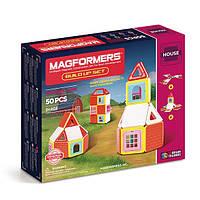 Магнитный конструктор Набор для строительства, 50 элементов, серия Строительство домов, Magformers