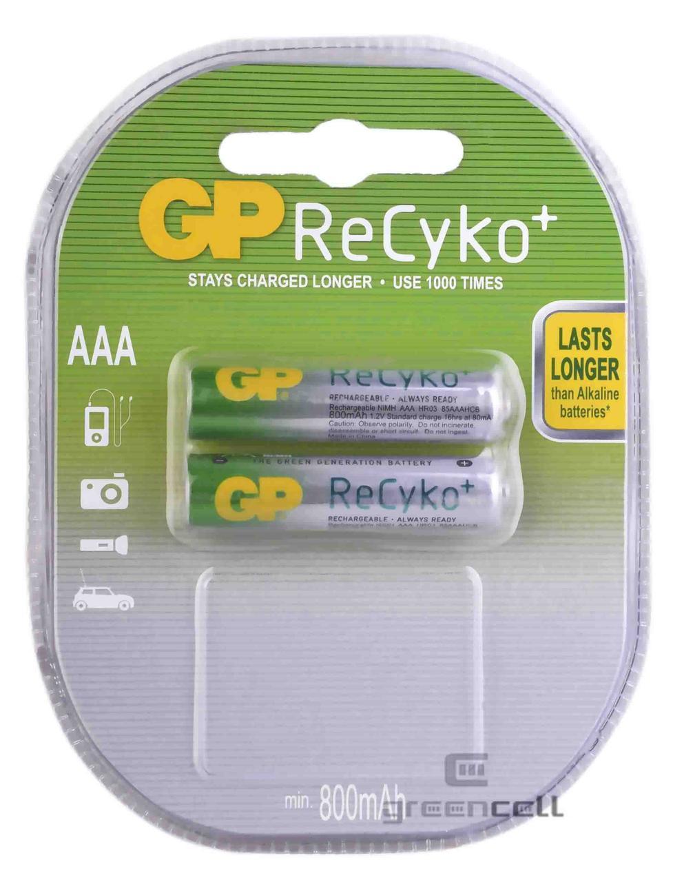 Аккумулятор GP ReСyko + 850 mAh AAА Ni-MH