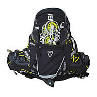 Мужской многофункциональный рюкзак для роликов чёрного цвета DIXI/ BLACK, Киев