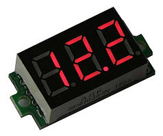Вольтметр цифровой DV-36Red постоянного тока 0-99V (трех разрядный, красный, бескорпусной)