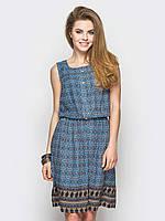Легкое женское платье на резинке без рукавов 90237