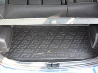 Резиновый коврик в багажник Toyota Yaris 06-09 Lada Locer (Локер)