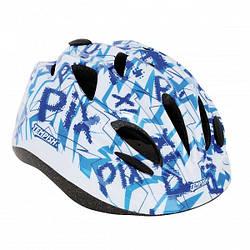 Чоловічий захисний шолом для ролерів та скейтерів, з козирком і регульованим ремінцем синій Tempish Pix