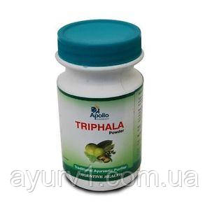 Трифала повдер, трифала порошок, Трифала чурна Аполло/ Triphala Powder, Apollo / 125 г.