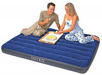 Полуторный надувной матрас Intex Classic Downy 137х191х22 см