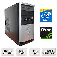 Игровой ПК - 4 ЯДРА /4GB RAM /1000GB HDD /GeForce GT240 512MB DDR5