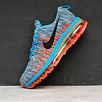 Кроссовки женские Nike Air Max 2017 синий / оранжевый