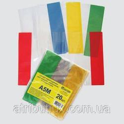 Обложка цветная Эконом A5 80мкм ПВХ микс. Размер 208х360