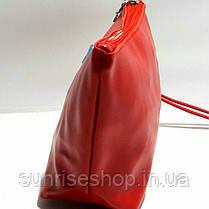 Косметичка женская кожзам трапеция, фото 3