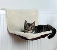 Гамак подвесной для кота, грызуна (плюш) 45х26х31см,крем/коричневый