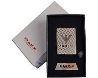 Спиральная USB зажигалка Giorgio Armani №4693, спираль накаливания, подарочная упаковка, модные девайсы