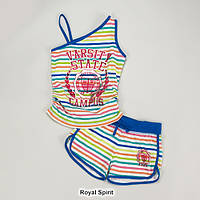 Майка и шорты для девочки, размер S (7/8), костюмы летние пляжные