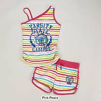 Майка и шорты для девочки, размер М (10/12), костюмы летние пляжные