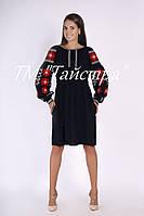Вышитое платье вышиванка в Бохо-стиле, лен, плаття вишиванка