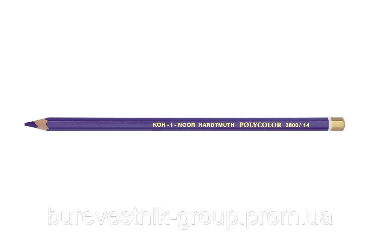 """Цветной художественный карандаш Koh-I-Noor """"Polycolor"""" BLUISH VIOLET (3800/14)"""