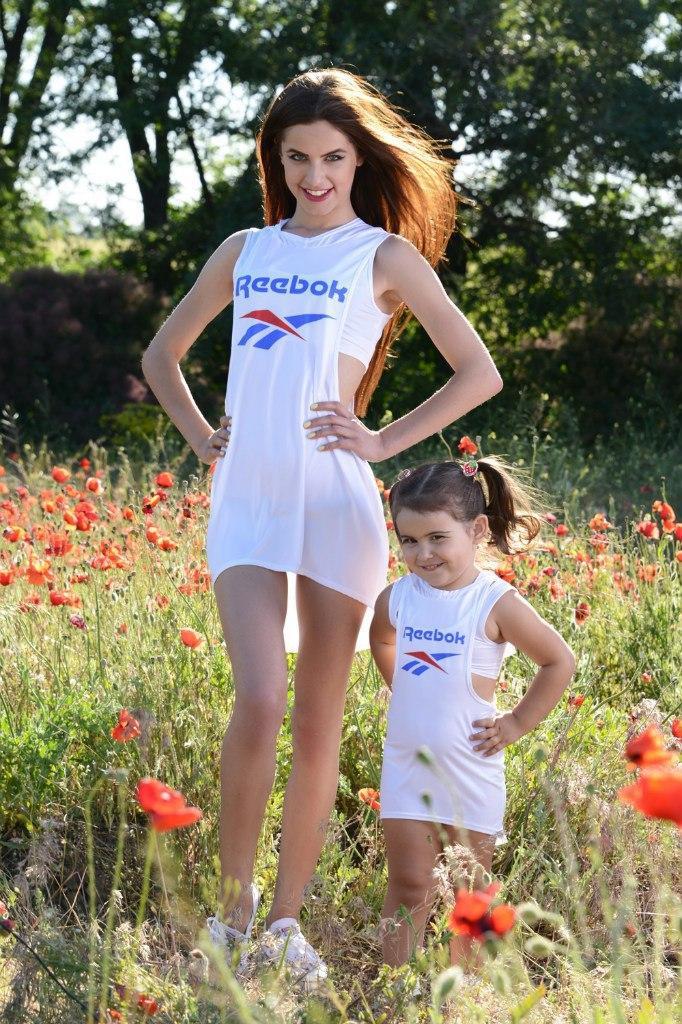 Платье двойка Reebok мама+дочка (2 цвета)