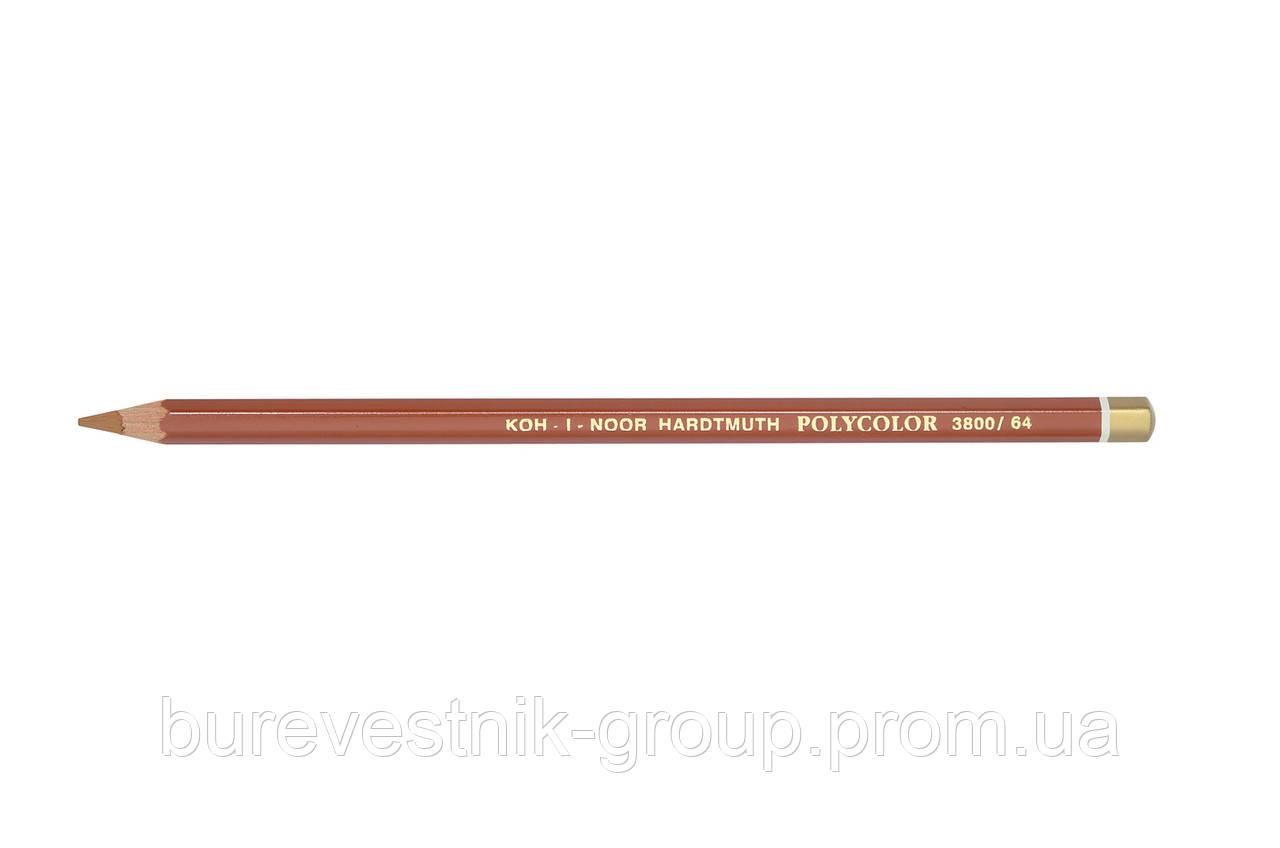 """Цветной художественный карандаш Koh-I-Noor """"Polycolor"""" BURNT OCHRE (3800/64)"""
