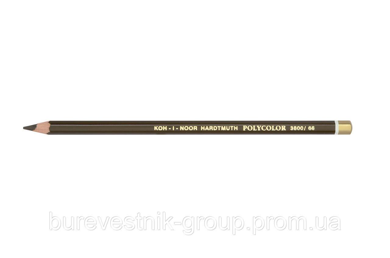 """Цветной художественный карандаш Koh-I-Noor """"Polycolor"""" BURNT UMBER (3800/68)"""