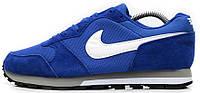 Мужские спортивные кроссовки Nike 2017 Runner Blue Найк синие