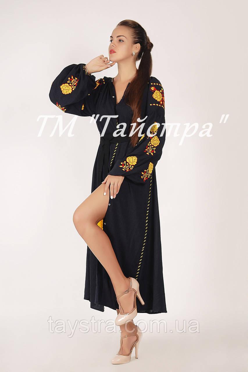 Платье вышитое лен, вышиванка бохо стиль , Bohemian, этно, вишиванка плаття вишите