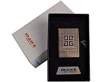 Спиральная USB зажигалка Givenchy №4693, практичное приобретение, экономим на газе и бензине, подарочная