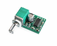 Усилитель на микросхеме PAM8403 стерео аудио сигнала с регулировкой громкости підсилювач 3W 3 Вт