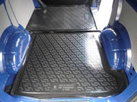 Резиновый коврик в багажник Volkswagen Transporter T5 02-09 Lada Locer 112х143 см (Локер)