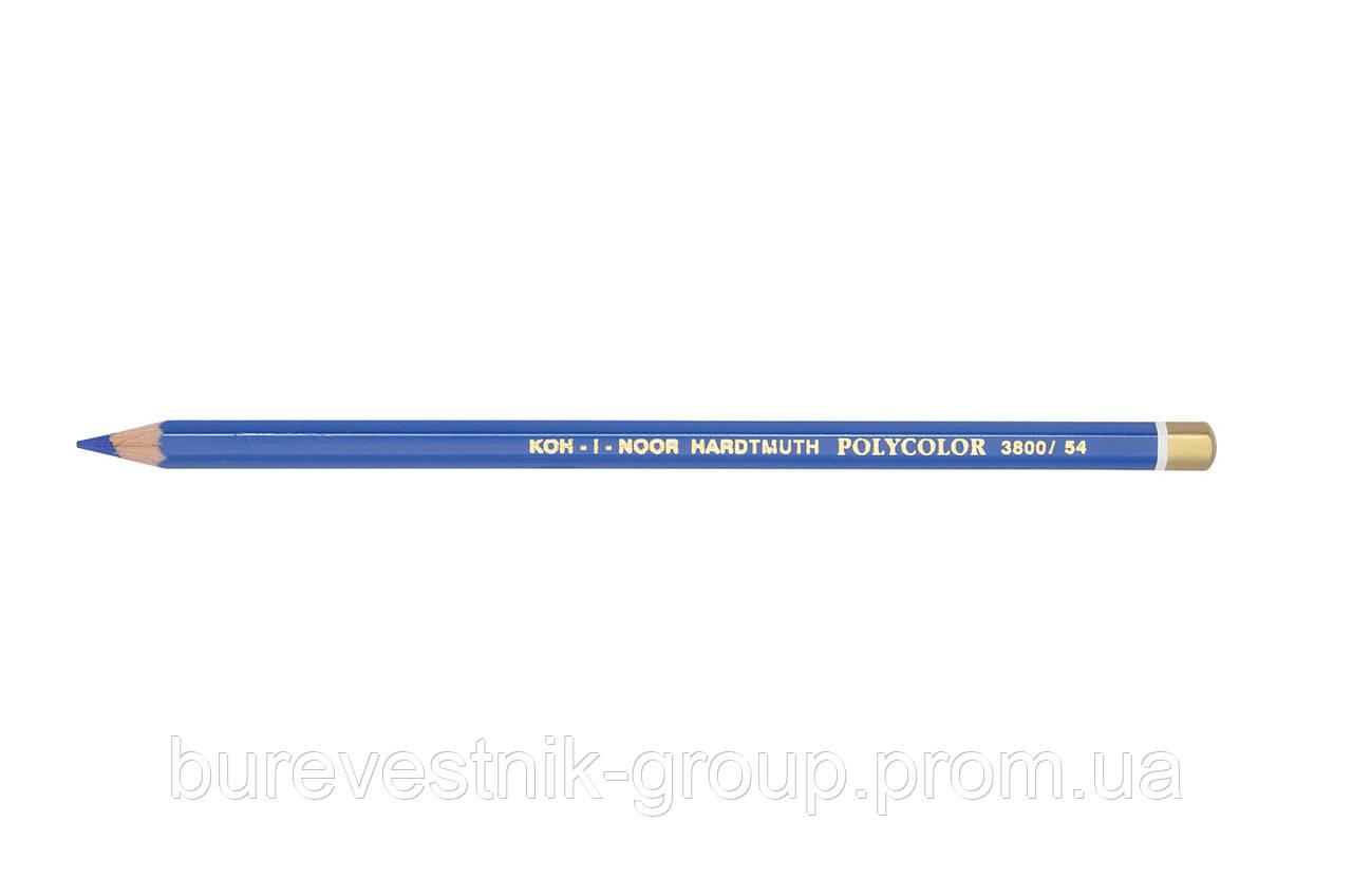 """Цветной художественный карандаш Koh-I-Noor """"Polycolor"""" COBALT BLUE DARK (3800/54)"""