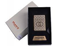 Спиральная USB зажигалка Gucci №4693, подарочная упаковка, модный и стильный девайс, работает в любую погоду