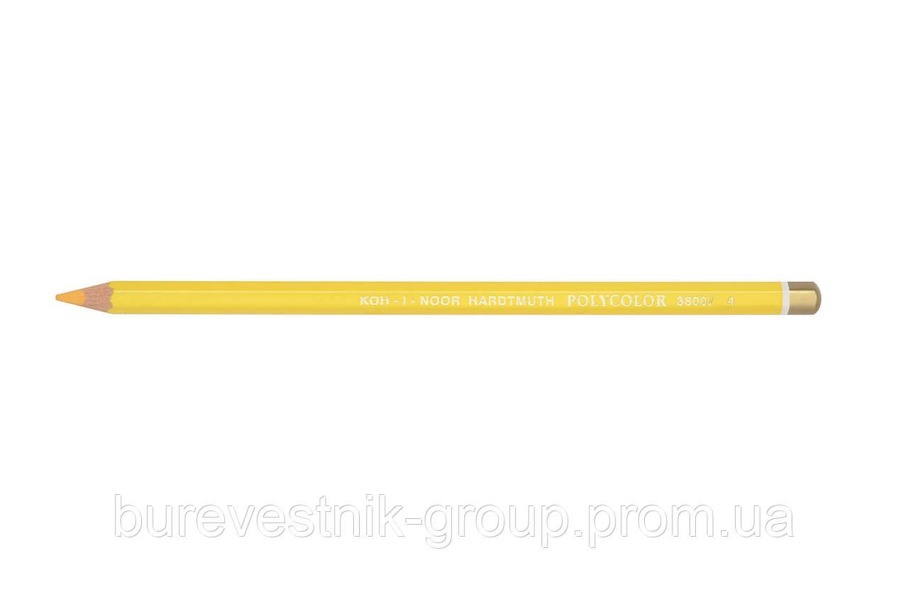 """Цветной художественный карандаш Koh-I-Noor """"Polycolor"""" DARK YELLOW (3800/4)"""