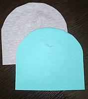 Шапочка двойной трикотаж для мальчика размер 44-46, 46-48, 48-50, 50-52, Украина, фото 1