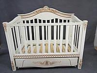 Детская кроватка «VIVA Victoria» ваниль, белая патина