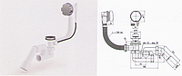 Сифон для ванны полуавтомат с ревизией