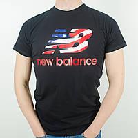 Футболка с логотипом, New Balance (Черный)