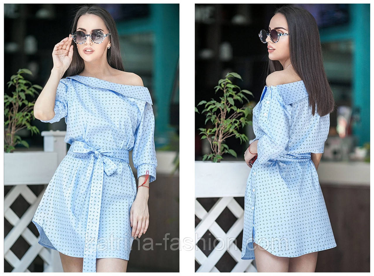 41dcacdb6a7 Женское модное летнее платье-рубашка с поясом (3 цвета)  продажа ...