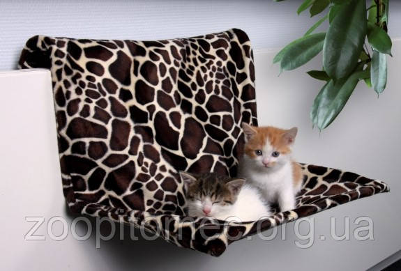 Купить Гамак подвесной для кота, хорька (плюш)58х30х38см,леопард.