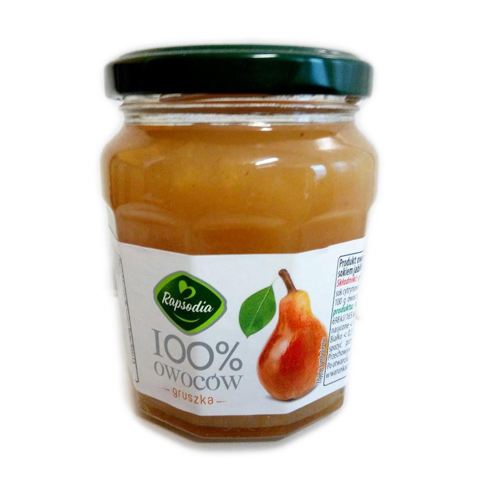 Джем груша Rapsodia 100% Owocow Gruszka без сахара, 220 грамм