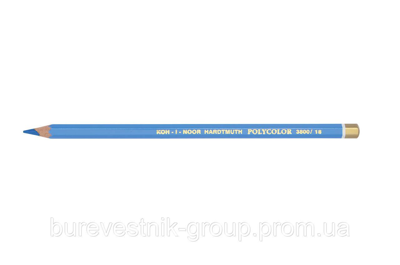 """Цветной художественный карандаш Koh-I-Noor """"Polycolor""""  LIGHT BLUE (3800/18)"""