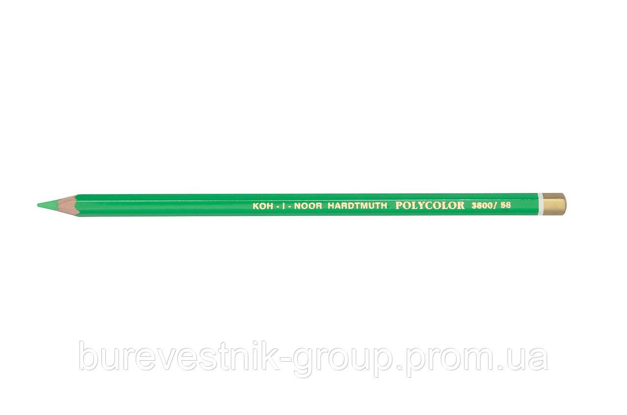 """Цветной художественный карандаш Koh-I-Noor """"Polycolor"""" LIGHT GREEN (3800/58)"""