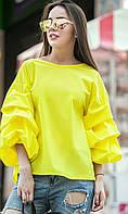 Женская модная блуза с оригинальными рукавами (8 цветов), фото 1