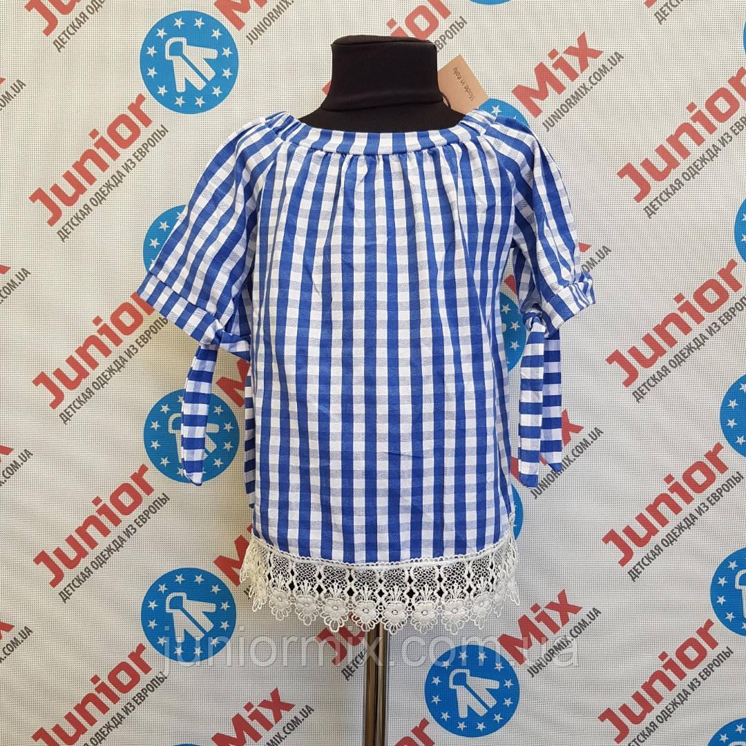 Катоновая блузка короткий рукав на девочку