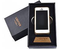 Спиральная USB-зажигалка iPhone 7 №4755, в подарочной упаковке, безотказная работа в любую погоду