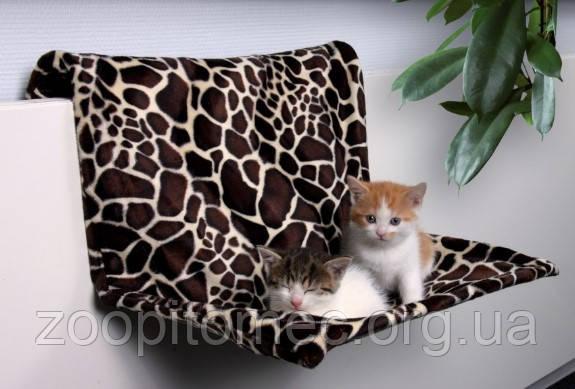 Гамак подвесной для кота, хорька (плюш)58х30х38см,леопард.