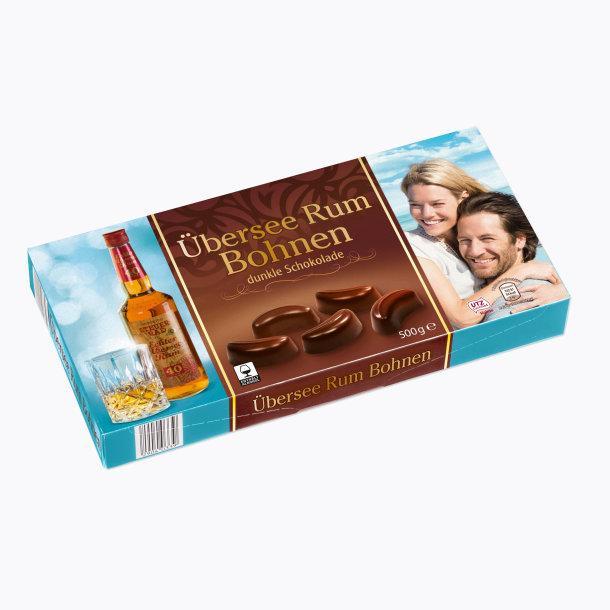 Шоколадные конфеты Übersee Rum Bohnen с ромом, 500 гр.